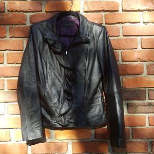 TAHARI Lamb Leather Jacket